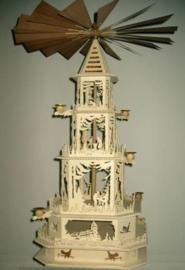 Figuurzaag sjabloon Kerstpiramide 3 etages