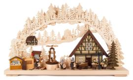 Schwibbogen Opbouw Kerstmarkt groot