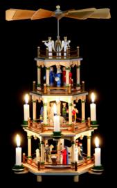 Kerstpiramide 4 etages Kerstverhaal