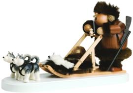 Eskimo met hondenslee 21cm