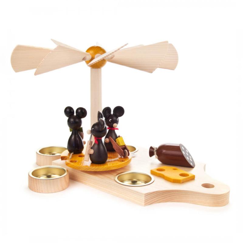 Piramide ontbijtplankje voor muisjes