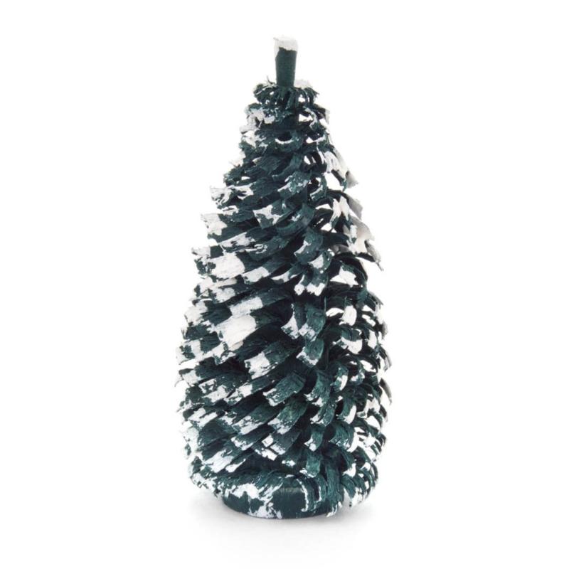 Spaanboompje groen met sneeuw 8 cm (stuk)
