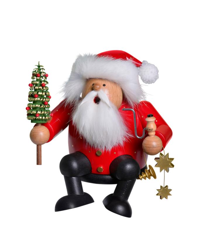 Kerstman met kerstboom 15cm