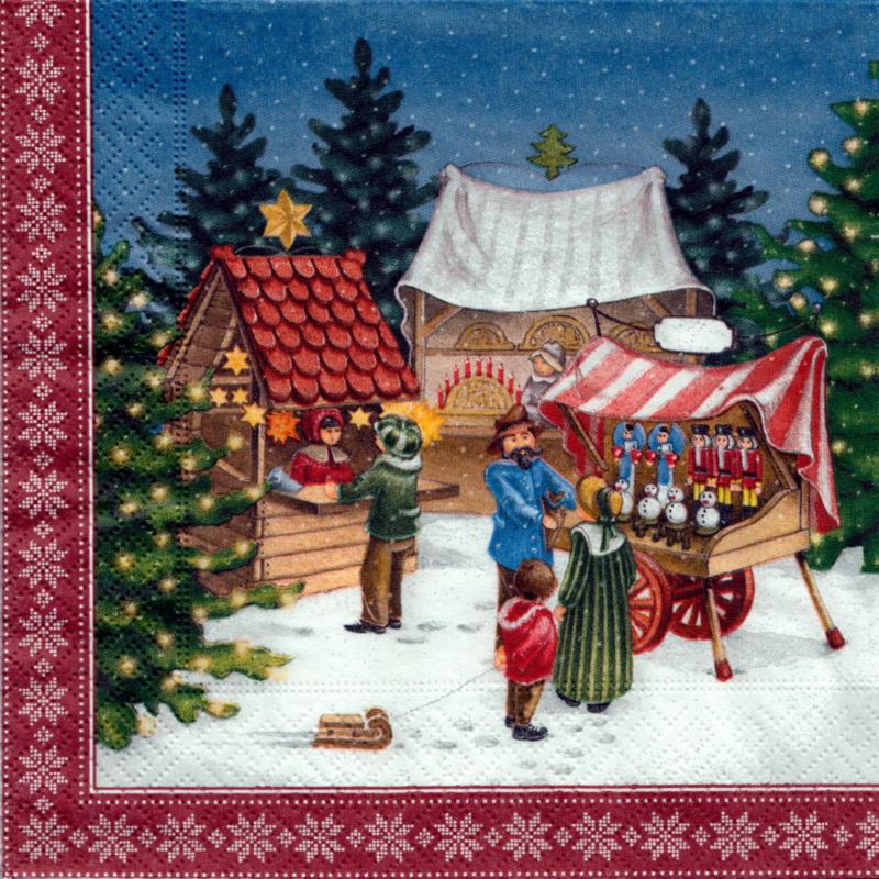 Servetten Kerstmarkt