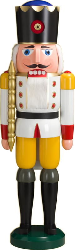 Notenkraker Koning wit 100cm