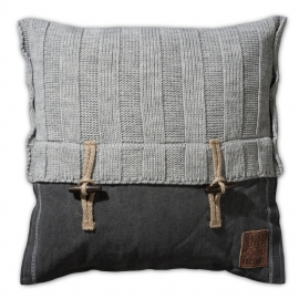 "Pillow ""Rib"" lightgrey"