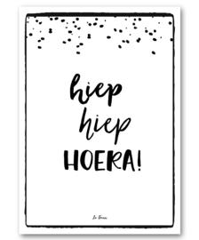 "A6 Canvas print ""Hoera"""