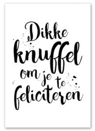 """Postcard """"Dikke knuffel"""""""