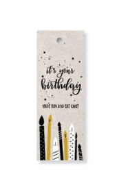 "Label ""It's your birthday"""