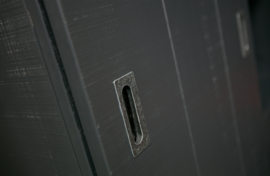 """VT Wonen kast """"Slide"""" mat zwart"""
