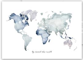 "Kaart ""Travel the world"""