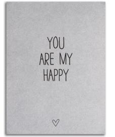 """Kaart """"My happy"""""""