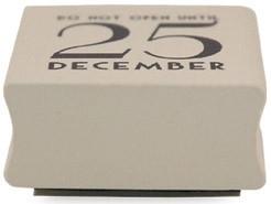 "Stamp ""Do not open until 25 december"""