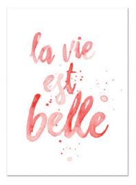 "Kaart ""La vie est belle"" koraal"