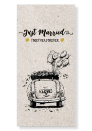 "Kaart ""Just married"""