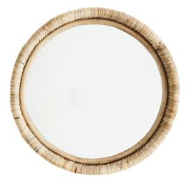 """Spiegel """"Bamboe"""" rond"""