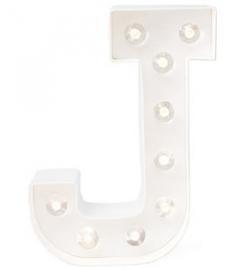 """Light letter """"J"""""""