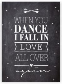 "Kaart ""Dance"""