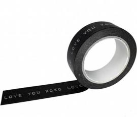 """Masking tape """"Love you XOXO"""""""