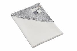 "Dishcloth ""Block"" off-white/mid-grey"