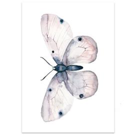 """Kaart """"Vlinder"""" roze"""