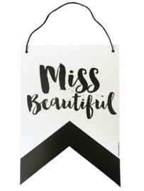 "Wall banner ""Miss/ Mister"""