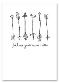 "Poster ""Follow your own path"""