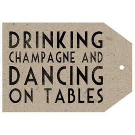"Kaart ""Drink champagne"""