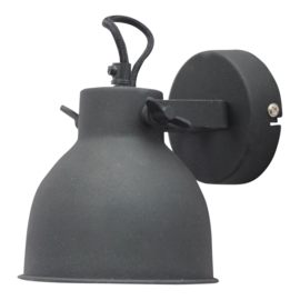 "Wandlamp ""Industrial L"" Black"