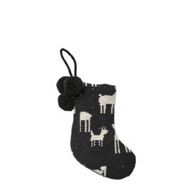 "Kerstsok ""Rendier"" zwart S"