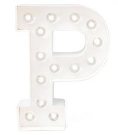 """Light letter """"P"""""""