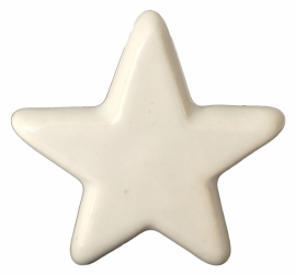 "Knop ""Star"" wit"
