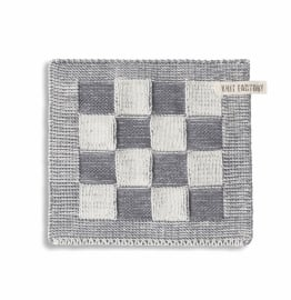 "Potholder ""Block"" off-white/grey"