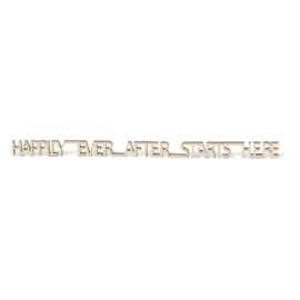 """Message in a bottle """"Happily ever after starts here"""""""