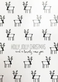 "Kaart ""Holly jolly christmas"""