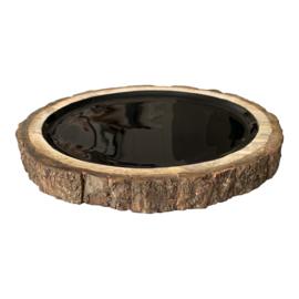 "VTwonen tray ""Wood"" zwart"