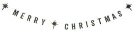 """Slinger """"Merry Christmas"""" groen"""