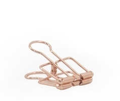 "Binder clip S ""Copper"""