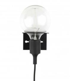 """Wandlamp """"Metaal"""" zwart"""