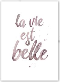 "Kaart ""La vie est belle"""
