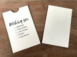"""Cadeau envelop """"Wishing you"""""""