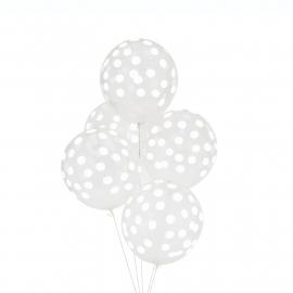 """Balloons """"Confetti"""" white"""