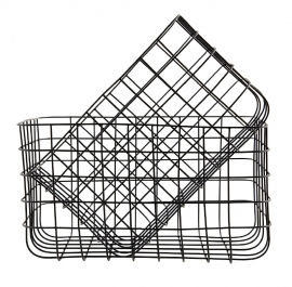 "Wire basket ""Simply 3"" black"