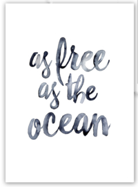 """Kaart """"As free as the ocean"""""""