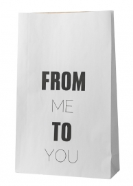 "Paperbag ""From me to you"""