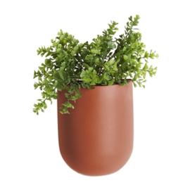 "Wandplantenpot ""Oval"" bruin"