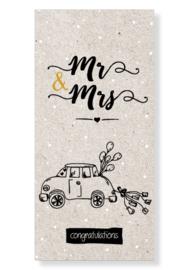 """Kaart """"Mr & Mrs"""""""