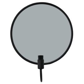 """Spiegel """"Kandelaar"""" zwart"""