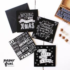 """Set """"Paperfuel"""" kerstkaarten"""