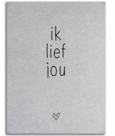 """Kaart """"Ik hou jou"""""""